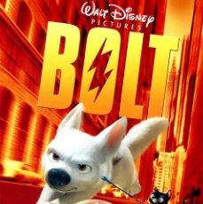 Cine: BOLT (GUÍA ORIGINAL DOBLE CON FOTOS DE SU ESTRENO EN ESPAÑA) WALT DISNEY. Lote 66494218