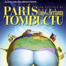 Cinema: PARÍS TOMBUCTU (GUÍA ORIGINAL DOBLE CON FOTOS DE SU ESTRENO EN ESPAÑA) DIRECTOR LUIS G. BERLANGA. Lote 66832494