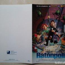 Cine: GUIA ORIGINAL DOBLE -A4- RATONPOLIS - ANIMACION. Lote 66972478