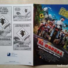 Cine: GUIA ORIGINAL DOBLE -A4- EL CORRAL - ANIMACION. Lote 66972498