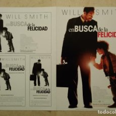 Cine: GUIA ORIGINAL DOBLE -A4- EN BUSCA DE LA FELICIDAD -ARCHIVO- WILL SMITH. Lote 68348185