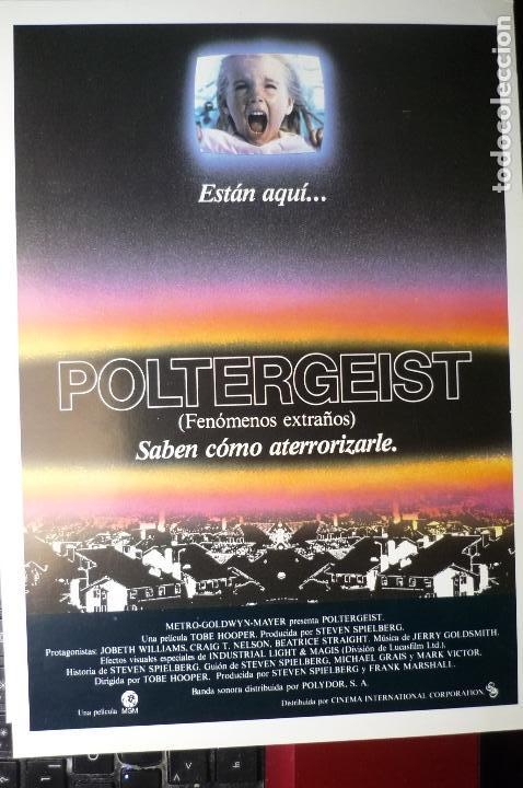 GUIA DOBLE POLTERGEIST (Cine - Guías Publicitarias de Películas )