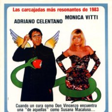Cine: LA OTRA MITAD DEL CIELO (GUÍA ORIGINAL SIMPLE DE SU ESTRENO EN ESPAÑA) ADRIANO CELENTANO . Lote 68832429