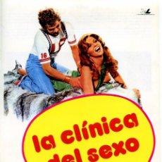 Cine: LA CLINICA DEL SEXO (GUÍA ORIGINAL SIMPLE DE SU ESTRENO EN ESPAÑA) JOSÉ SACRISTAN. Lote 68836737
