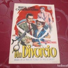 Cine: UN DIVORCIO - MARGA LOPEZ - SUEVIA FILMS. Lote 68997841
