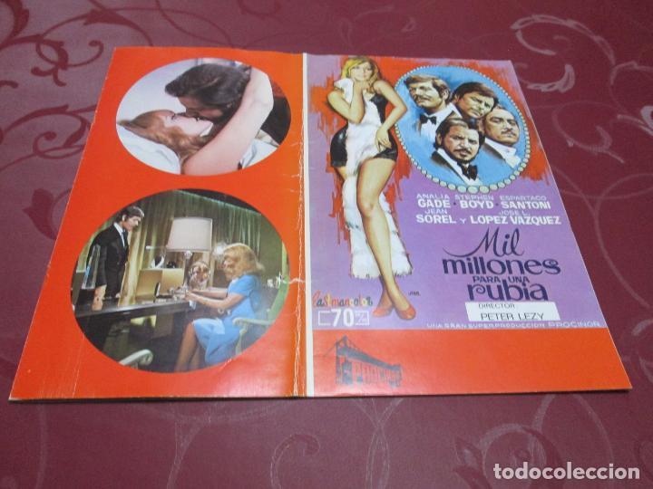 MIL MILLONES PARA UNA RUBIA - ANALIA GADE - PROCINOR (Cine - Guías Publicitarias de Películas )
