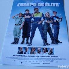 Cine: CUERPO DE ELITE - MARIA LEON, MIKI ESPARBE, JORDI SANCHEZ, SILVIA ABRIL - GUIA ORIGINAL FOX AÑO 2016. Lote 69839337