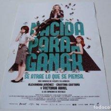 Cine: NACIDA PARA GANAR - VICTORIA ABRIL, CRISTINA CASTAÑO, ALEXANDRA JIMENEZ - GUIA. Lote 70296693