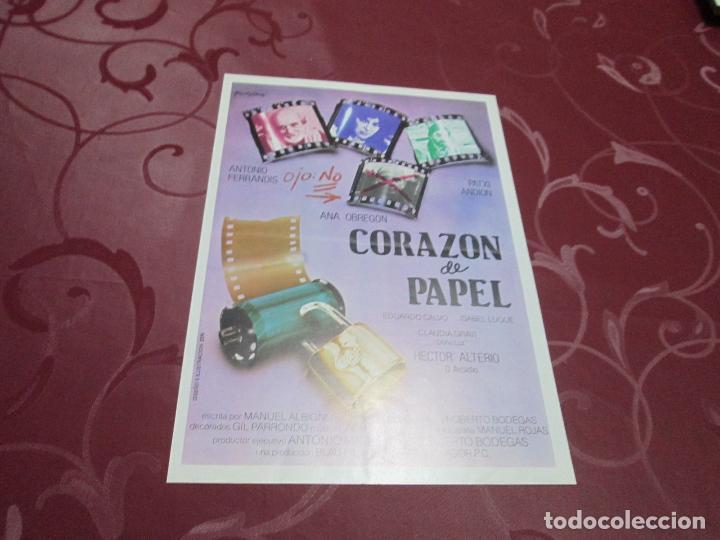 CORAZON DE PAPEL - ANTONIO FERRANDIS - BLAU FILMS (Cine - Guías Publicitarias de Películas )