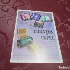 Cine: CORAZON DE PAPEL - ANTONIO FERRANDIS - BLAU FILMS. Lote 71557747