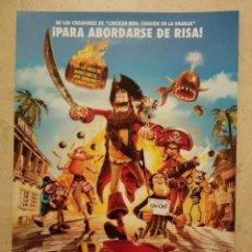 Cine: GUIA ORIGINAL -A4 - PIRATAS - PIRATAS - ANIMACION. Lote 71630707