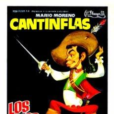 Cine: LOS TRES MOSQUETEROS (GUÍA ORIGINAL DOBLE CON FOTOS) MARIO MORENO CANTINFLAS. Lote 98838551