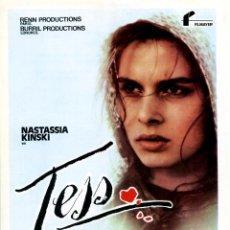 Cine: TESS (GUÍA ORIGINAL DE SU ESTRENO EN ESPAÑA) NASTASSIA KINSKI - DIRECTO ROMAN POLANSKI. Lote 156161333