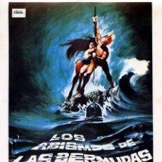 Cine: LOS ABISMOS DE LAS BERMUDAS (GUÍA ORIGINAL SIMPLE CON FOTOS DE SU ESTRENO EN ESPAÑA) . Lote 73475123