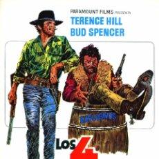 Cine: LOS 4 TRUHANES (GUÍA ORIGINAL SIMPLE DE SU ESTRENO) TERENCE HILL - BUD SPENCER - ELI WALLACH. Lote 211509449