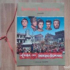 Cine: SAMUEL BRONSTON. LA CAIDA DEL IMPERIO ROMANO. CINE PELICULA PROGRAMA. SOFIA LOREN ESTRENO 1964.. Lote 74026623