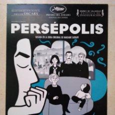 Cine: GUIA ORIGINAL -A4 - PERSEPOLIS - CATHERINE DENEUVE. Lote 74363939