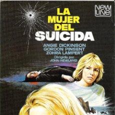 Cine: LA MUJER DEL SUICIDA, GUIA ORIGINAL SENCILLA, ANGIE DICKINSON. Lote 74470179