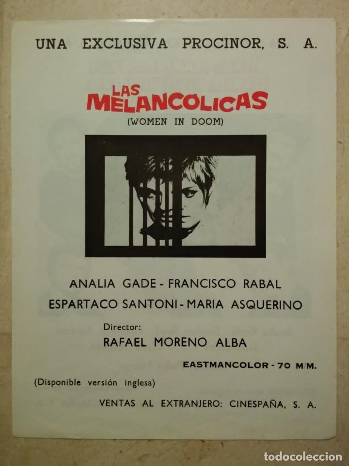 Cine: FICHA PUBLICITARIA ORIGINAL -A4- MIL MILLONES PARA UNA RUBIA - ARCHIVO - ANALIA GADE - Foto 2 - 74652859