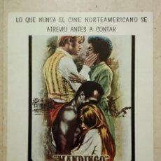 Cine: FICHA PUBLICITARIA ORIGINAL -A4- MANDINGO - ARCHIVO - JAMES MASON - DISEÑO MAC - SUSAN GEORGE. Lote 74652867