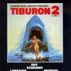 Cine: TIBURON 2 (JAWS 2) (GUÍA ORIGINAL SIMPLE CON FOTOS) . Lote 152565902