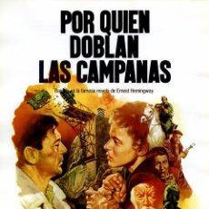 Cinema: POR QUIEN DOBLAN LAS CAMPANAS (GUÍA ORIGINAL SIMPLE CON FOTOS) ESPAÑA 1936 GUERRA CIVIL GARY COOPER. Lote 108389160