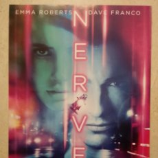 Cine: LAMINA PAPEL GRUESO -A4 - NERVE - ARCHIVO - EMMA ROBERTS - DAVE FRANCO. Lote 75804999