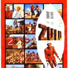 Cine: ZULU (GUÍA ORIGINAL SIMPLE CON MUCHAS FOTOS DE SU ESTRENO EN ESPAÑA) STARLEY BAKER - MICHAEL CAINE. Lote 184377546