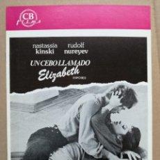 Cine: UN CEBO LLAMADO ELIZABETH, GUIA ORIGINAL CB FILMS. Lote 77245517