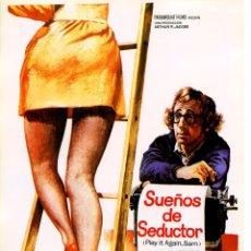 Cine: SUEÑOS DE SEDUCTOR (GUÍA ORIGINAL SIMPLE CON FOTOS DE SU ESTRENO EN ESPAÑA) WOODY ALLEN . Lote 98838556