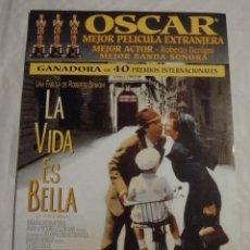 Cine: HOJA SINOPSIS FICHA ARTISTICA Y TECNICA LA VIDA ES BELLA. Lote 77568945
