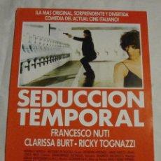 Cine: HOJA SINOPSIS FICHA ARTISTICA Y TECNICA SEDUCCION TEMPORAL. Lote 77660589