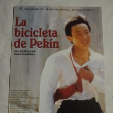 Cine: HOJA SINOPSIS FICHA ARTISTICA Y TECNICA LA BICICLETA DE PEKIN. Lote 77671353