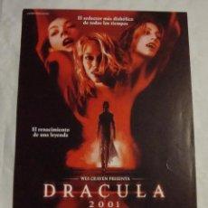 Cine: HOJA SINOPSIS FICHA ARTISTICA Y TECNICA DRACULA 2001. Lote 77671457