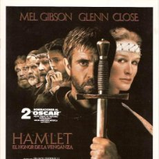 Cine: HAMLET, MEL GIBSON & GLENN CLOSE, GUÍA ORIGINAL. Lote 78025873