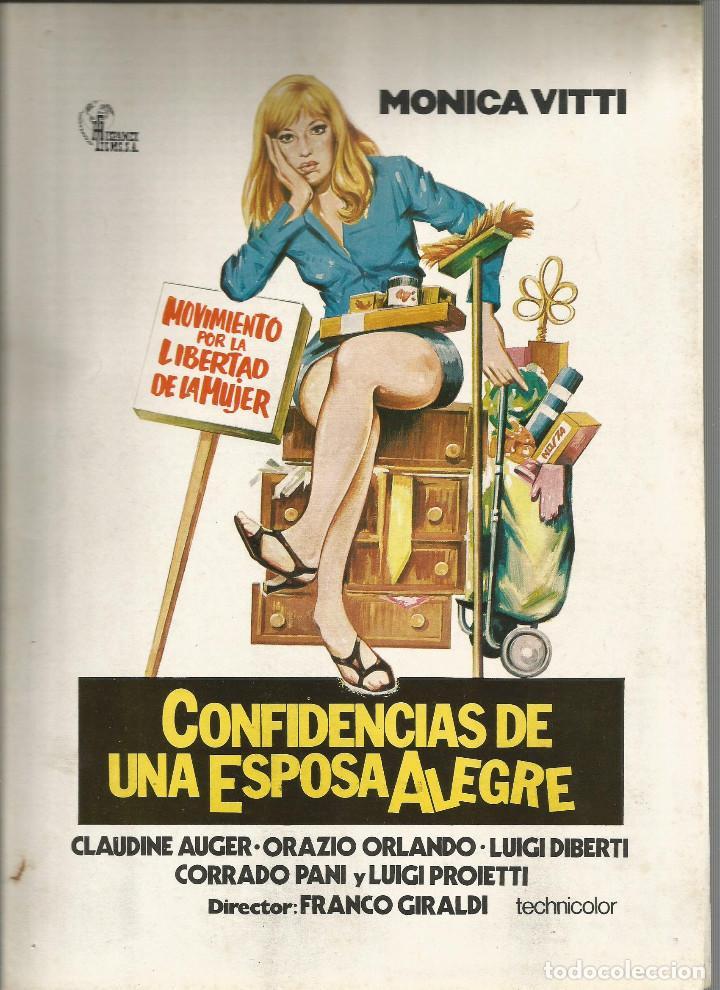 CONFESIONES DE UNA ESPOSA ALEGRE MONICA VITTI GUIA ORIGINAL Q (Cine - Guías Publicitarias de Películas )