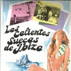 Cine: LAS CALIENTES SUECAS DE IBIZA GUIA ORIGINAL Q. Lote 78522553