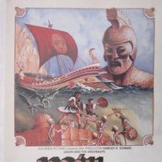 Cinéma: CARTEL DE CINE 20X30 JASON Y LOS ARGONAUTAS R.UNIDO 1963. Lote 79330805