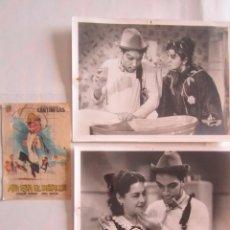 Cinéma: CARTEL DE CINE 10X14+ 2 FOTOS 18X24 AHI ESTA EL DETALLE CON CANTINFLAS MEXICO 1940. Lote 79633417