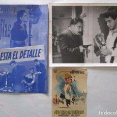 Cinéma: CARTEL DE CINE 19X25+ FOTO 18X24 AHI ESTA EL DETALLE CON CANTINFLAS MEXICO 1940. Lote 79633913
