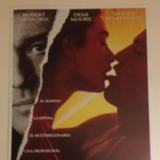 Cine: UNA PROPOSICIÓN INDECENTE (1993). Lote 79843217
