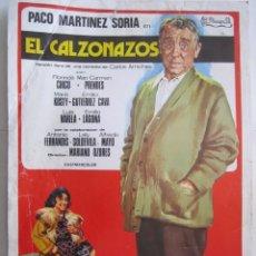 Cine: CARTEL DE CINE 20X30 EL CALZONAZOS DE MARIANO OZORES CON PACO MARTINEZ SORIA. Lote 80219821