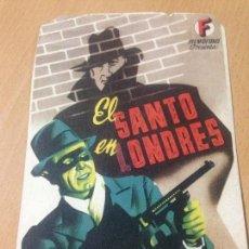 Cine: EL SANTO EN LONDRES IMPRENTA ORTEGA CUEZA CINE. Lote 80221509