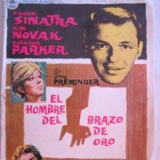 Cine: CARTEL DE CINE 20X30 EL HOMBRE DEL BRAZO DE ORO DE OTTO PREMINGER CON FRANK SINATRA KIM NOVAK 1955. Lote 80275297