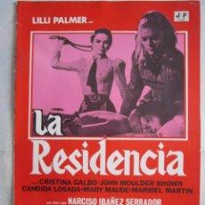 Cine: CARTELDE CINE 19X25 LA RESIDENCIA DE IBAÑEZ SERRADOR LILLI PALMER Y CRISTINA GALBO. Lote 80341813