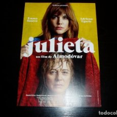 Cinema: JULIETA. GUÍA PUBLICITARIA SENCILLA ORIGINAL DE LA PELÍCULA. NUEVO. IMPECABLE.. Lote 218502482