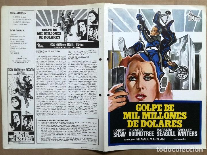 GOLPE DE MIL MILLONES DE DOLARES - GUIA PUBLICITARIA (Cine - Guías Publicitarias de Películas )