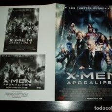 Cine: X-MEN APOCALIPSIS. GUIA PUBLICITARIA DOBLE. ORIGINAL. MAGNIFICO ESTADO.NUEVO.. Lote 138994605