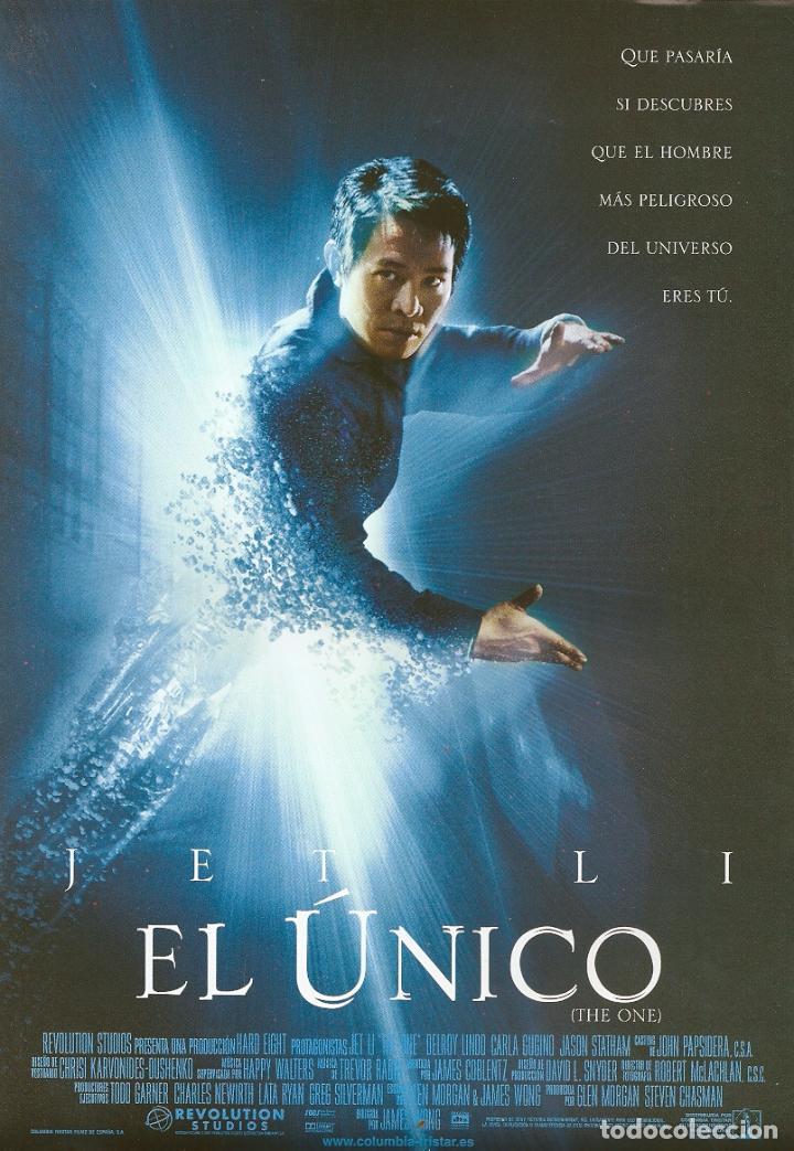 EL UNICO (GUÍA PUBLICITARIA ORIGINAL SIMPLE).JET LI. JASON STATHAM. KUNG FU (Cine - Guías Publicitarias de Películas )