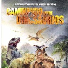 Cine: CAMINANDO ENTRE DINOSAURIOS, GUIA ORIGINAL SENCILLA DEL ESTRENO DE LA PELICULA, DIBUJOS. Lote 84195808